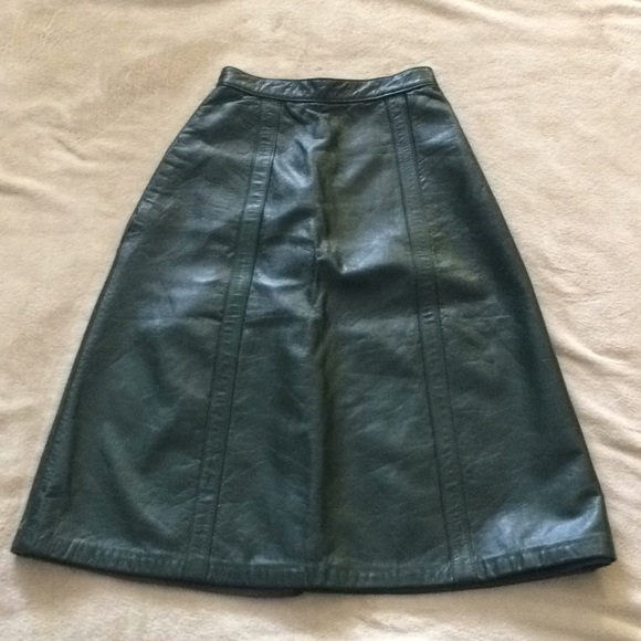 montgomery ward Dresses & Skirts - Vintage Montgomery Ward Heavy Leather Skirt